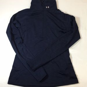 Under Armour Fitted cold gear 1/2zip pullover navy